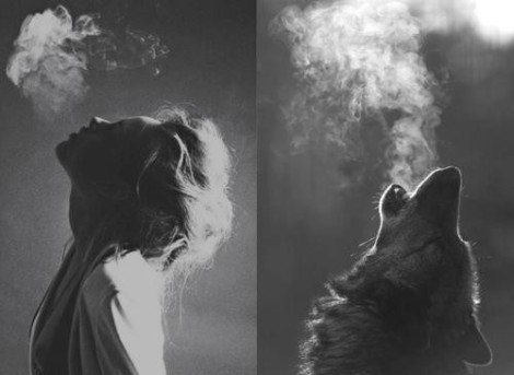 wild-woman&wolf